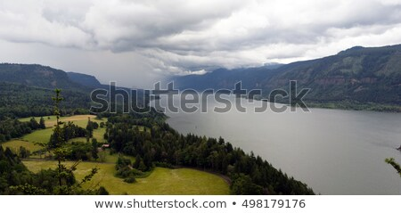 Storm Moving In Columbia River Gorge Washington United States Stock photo © cboswell