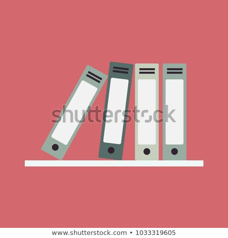 office shelves with folders vector illustration stock photo © rastudio