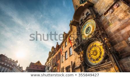 szczegół · starówka · sali · Praha · Czechy · czasu - zdjęcia stock © milsiart