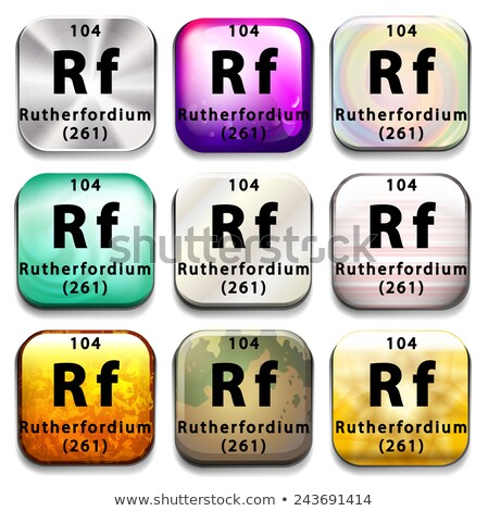 buttons showing rutherfordium and its abbreviation stock photo © bluering