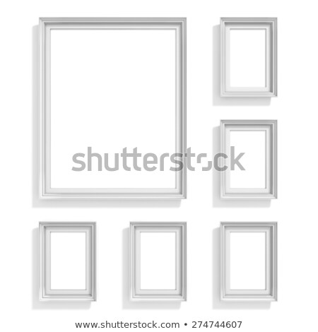 Blank picture frames. Website background template. Composition s Stock photo © djmilic