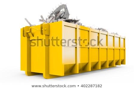 Hulladék teherautó citromsárga szín illusztráció háttér Stock fotó © bluering