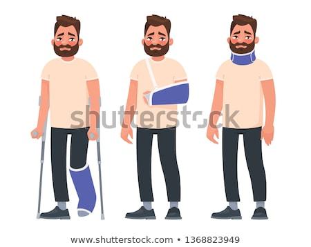 Ferido homem quebrado braço caucasiano Foto stock © RAStudio