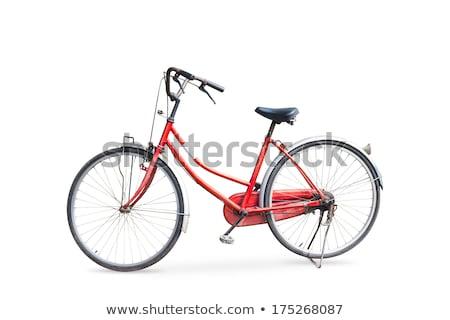 oude · retro · fiets · muur · hout - stockfoto © fotoyou