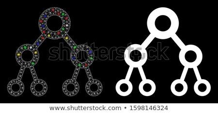 Bináris fa illusztráció absztrakt számítógép internet Stock fotó © get4net