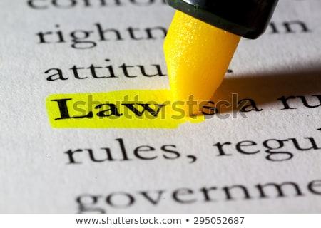 kreatív · törvény · jogi · oktatás · jogok · ceruza - stock fotó © lightsource