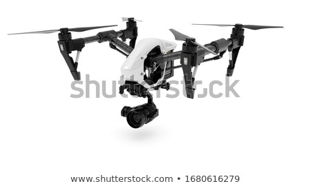 3D helicóptero branco azul robô cor Foto stock © tussik
