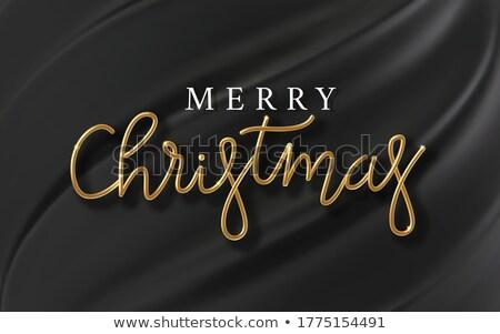 веселый рождество черный шелковые счастливым Сток-фото © SArts