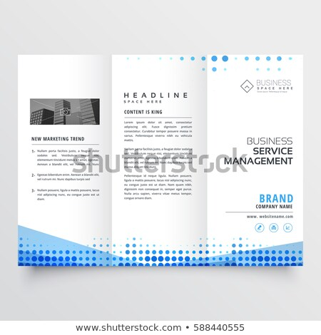 clean tri-fold brochure design with abstract blue effect Stock photo © SArts