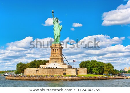 Statue liberté symbole ciel construction Photo stock © dawesign