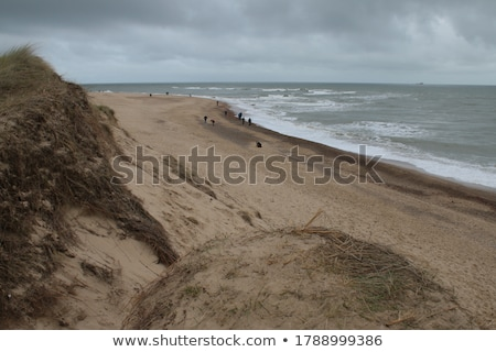 морем песчаный берега пейзаж синий пляж Сток-фото © OleksandrO