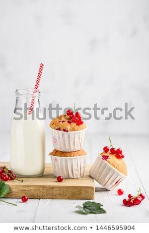 Vermelho groselha beber mesa de madeira gelado água Foto stock © Yatsenko