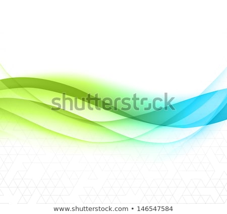 Abstract color design element. Blue and green  wave Stock photo © fresh_5265954