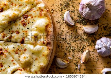 Foto stock: ão · De · Alho · Para · Pizza