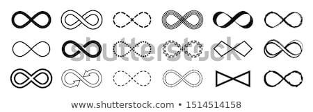 無限 にログイン 黒白 サークル 電源 テクスチャ ストックフォト © SwillSkill