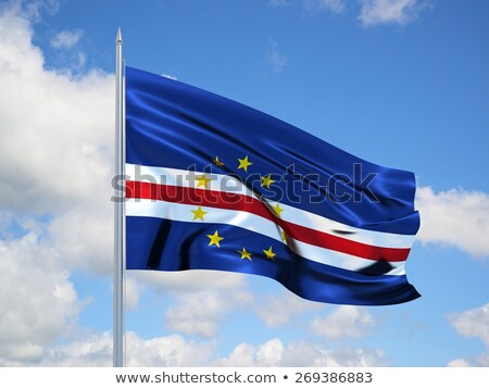 Cape Verde waving flag Stock photo © Amplion