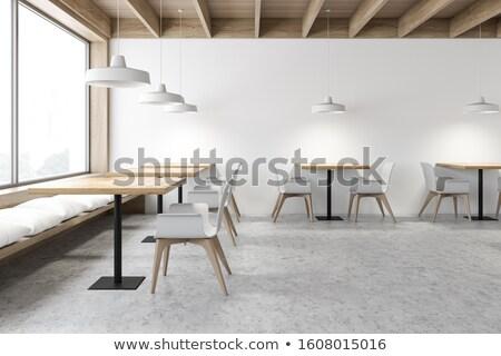 Bar moderne cafe foto licht Stockfoto © bezikus