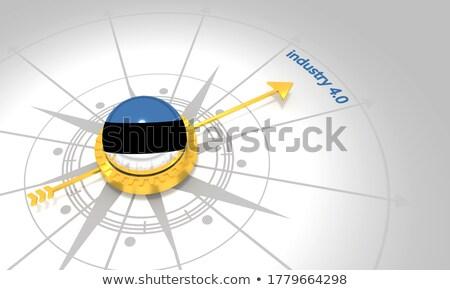 ギア ホイール フラグ 3D レンダリング 建設 ストックフォト © drizzd