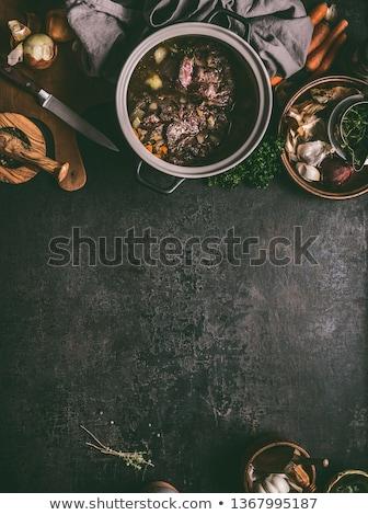 vertragen · chili · soep · gekruid · zwarte - stockfoto © ca2hill