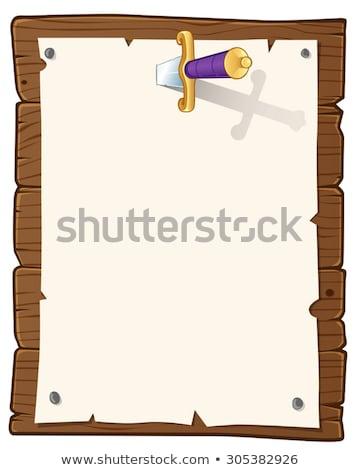 Board and sword. Stock photo © Silanti