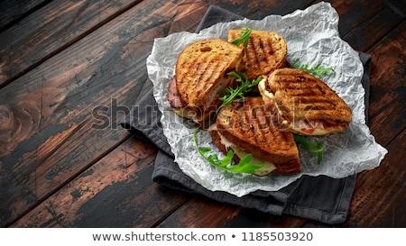 İtalyan panini sandviç peynir domuz pastırması taze Stok fotoğraf © Yatsenko