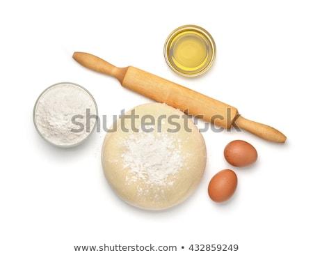 Brut oeuf alimentaire bois blé cuisson Photo stock © M-studio