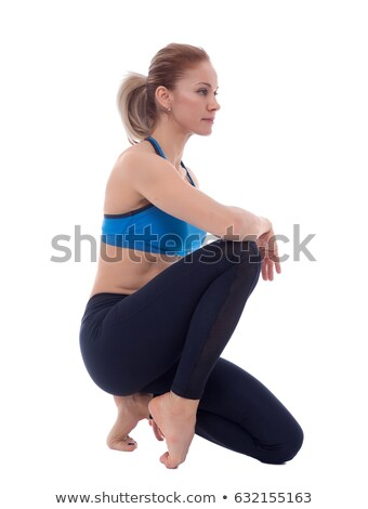 stretching of calf and splint muscles stock photo © blanaru