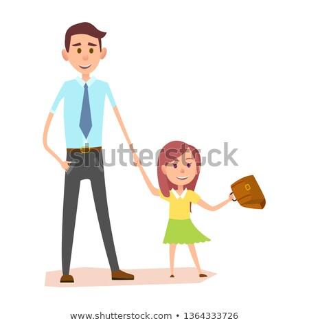 девочку коричневый юбка стороны иллюстрация Сток-фото © bluering