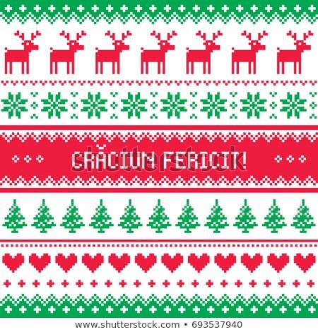 グリーティングカード 陽気な クリスマス ルーマニア語 パターン 冬 ストックフォト © RedKoala