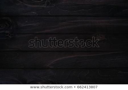 Stock fotó: Noir Elegance Black Wooden Board Background Wood Texture