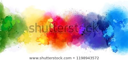 Colors of rainbow in smoke isolated Stock photo © zurijeta