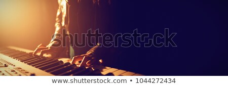 feminino · músico · jogar · piano · boate - foto stock © wavebreak_media