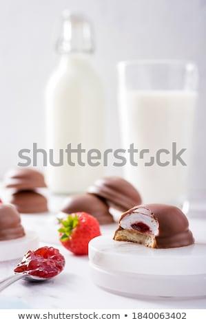 Chocolade heemst melk snoep dessert room Stockfoto © Digifoodstock