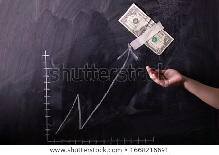 üzlet statisztika kézzel rajzolt zöld tábla modern Stock fotó © tashatuvango