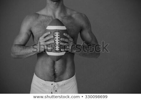 Gömleksiz spor oyuncu top siyah Stok fotoğraf © wavebreak_media