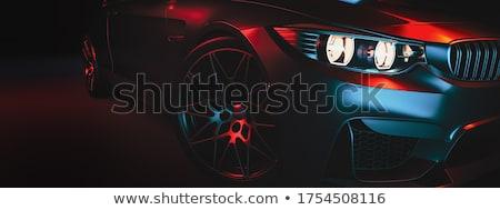 Tire Dark Background Stock photo © albund