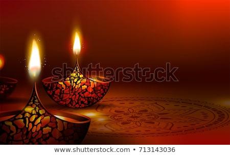 Bella diwali saluto abstract lampada carta Foto d'archivio © SArts