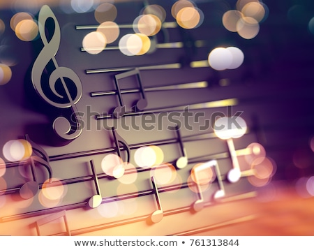 background of musical treble clef Stock photo © Olena