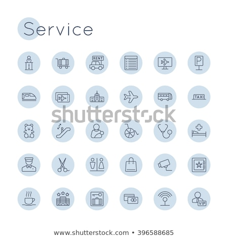 Porter line icon. Stock photo © RAStudio