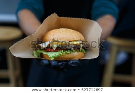 klasszikus · szendvicsek · felirat · stílus · szendvics · grafikus - stock fotó © studiostoks
