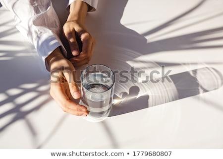 Kadın su cam iş ofis işadamı Stok fotoğraf © IS2