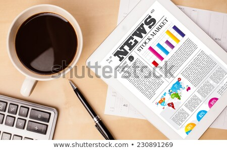 üzlet · hírek · kulcs · pc · billentyűzet · forró - stock fotó © tashatuvango
