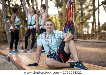 Trenerem relaks deska portret człowiek Zdjęcia stock © wavebreak_media