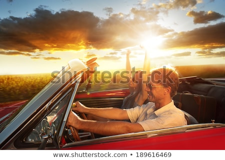 Mature couple driving sports car Stock photo © IS2