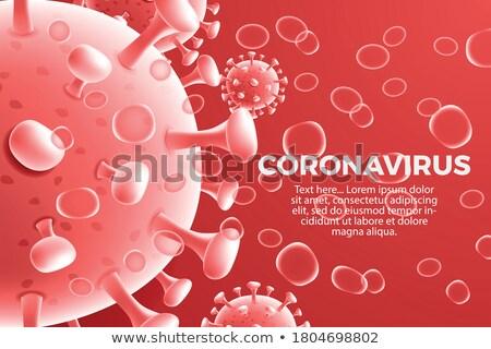 Vaccination imprimé diagnostic rouge médicaux floue Photo stock © tashatuvango
