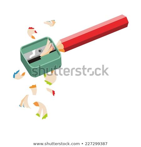Potloden puntenslijper houten potlood heerser witte Stockfoto © SRNR