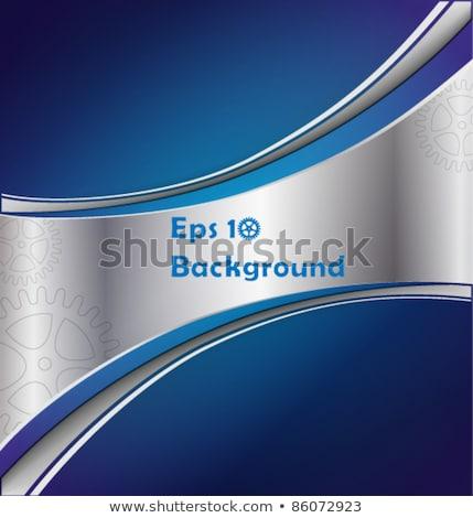 Eleganten blau grau Wellen Briefkopf Design Stock foto © SArts