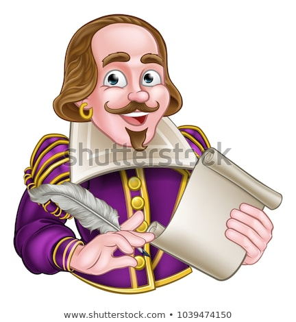 Elizabethan Shakespeare Cartoon Character Stock photo © Krisdog