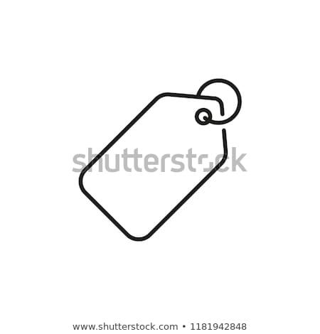 Price tag line icon. Stock photo © RAStudio