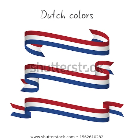 Hollandia zászló szalag izolált holland szalag Stock fotó © popaukropa